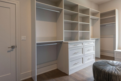 Closet Cabinets, White Shaker Plus, Left Side