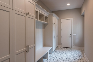 Mudroom Closets, White Shaker, Door View