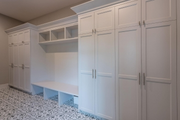 Mudroom Closets, White Shaker