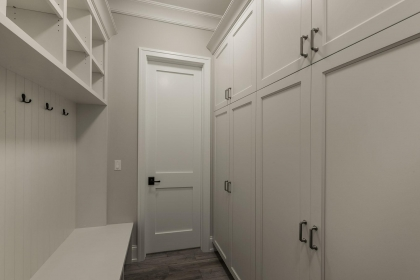 Mudroom White Shaker Style Cabinets