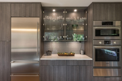 Kitchen Cabinets, Contemporary, Fridge View