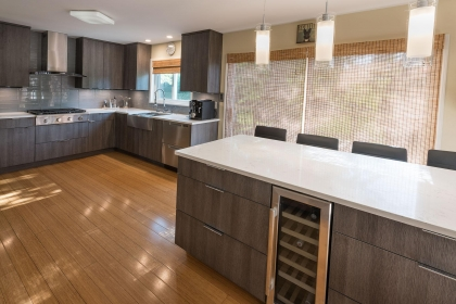 Kitchen Cabinets, Contemporary, Island View