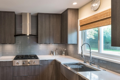 Kitchen Cabinets, Contemporary, Sink View