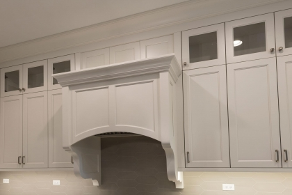 Kitchen Cabinets, White Shaker Plus, Hood