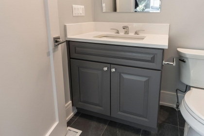 Bathroom Vanity, Paint Grade, Gray, Classic