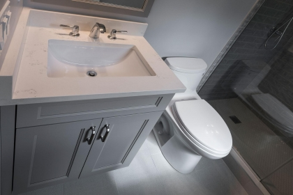 Bathroom Vanity, Paint Grade, Gray, Shaker Style
