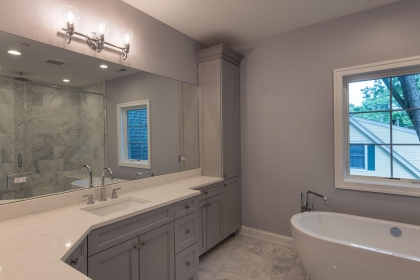 Master Bathroom Vanity, Paint Grade, Gray, Shaker